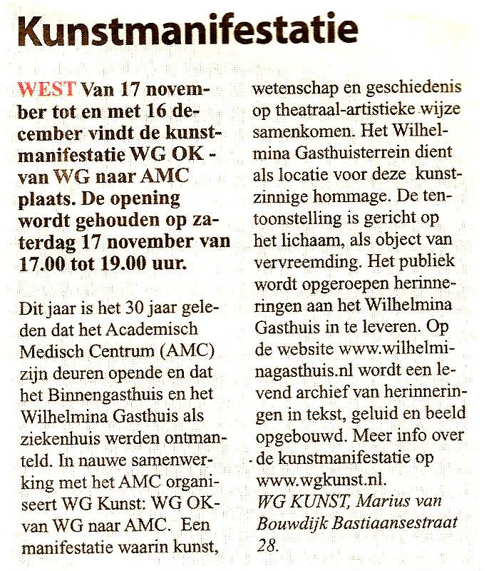 Stadsblad de Echo 14 november 2012